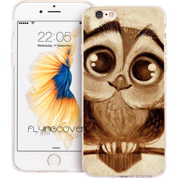 Wholesale Owl Silicone Phone Case - Fundas Cute Owl Animal Clear Soft TPU Silicone Phone Cover for iPhone X 7 8 Plus 5S 5 SE 6 6S Plus 5C 4S 4 iPod Touch 6 5 Cases.