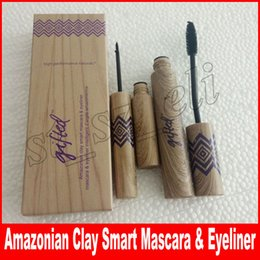 Wholesale 2in1 eyeliner - New 2in1 Makeup set Mascara Eyeliner Eyliner Black Mascara Eyeliner 2 in 1 Set Best Quality DHL Free Shipping