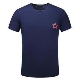 Wholesale West Point Print - Hot sell Brand Men Short Sleeve T-Shirt Kanye West T Shirt Five Pointed Star Printing Tshirt