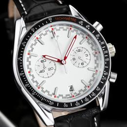 Wholesale women work top - All Subdials Work AAA Mens women Stainless Steel Quartz Wristwatches Stopwatch Luxury Watch Top Brand relogies for men relojes high quality