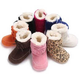 0d3b8c95c4d20 2019 zapatos lindos del leopardo Baby Warm Snow Boots Fall Cute Newborn  Baby Girl Boy Bebes