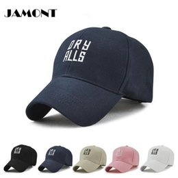 Wholesale peak hiking - [JAMONT]Outdoor Sports Caps Adjustable Personality Embroidery Peaked Hat Letters Cap Hats For Golf Men Women