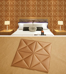 Wholesale nursery diy - 3D Wall Wallpaper Self-Adhesive Wall Sticker Brick PE Foam DIY Sticker Soundproofing Wallpaper for Home Room Bedroom Office Hotel Resturant