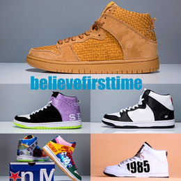 Wholesale White Campbell - SB Dunk High X Thomas Campbell Hi P TC What The Doernbecher Mens Women Basketball Shoes Wheat Send Help PRO OBSIDIAN WHITE Sports Sneakers
