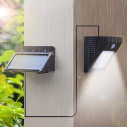 Wholesale Wall Night Light Motion Sensor - Waterproof led Solar Night light Separable PIR Motion Sensor Solar Power LED Wall lamp Yard Garden Security Outdoor lighting