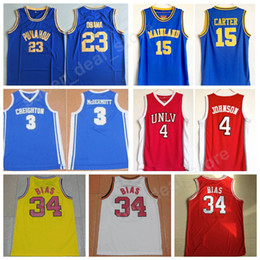 Wholesale High Johnson - 1985 Maryland Terps 34 Len Bias Jersey College High School Basketball 23 Barack Obama 3 Doug McDermott 4 Larry Johnson 15 Vince Carter
