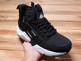Wholesale Boot Red Zipper - Air Huarache X Acronym City MID Leather Running Shoes with zipper for Men High Cut huaraches 6 Brand Designer Sports Sneakers Boots