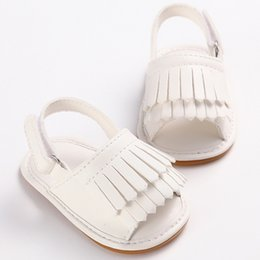 Wholesale Toddler Summer Sandals Boys - Soft PU Leather Boys Girls Shoes Beach Sandals Baby Girl Summer Toddler Shoes Slip-resistant Sandals baby Moccasins Bebes