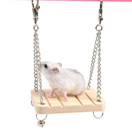 Wholesale Wooden Swings - Hamster Rabbit Mouse Chinchilla Wooden Hanging Bed Hammock Swing Toys Cage Accessories