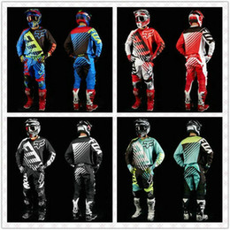 Wholesale viscose polyester suit - 2017 HOT Dirt Bike 180 NIRV Motocross fox Off-Road Suit MTB DH MX Moto Gear Set Jersey+Pants Motorcycle Dirt Bike Riding Gear