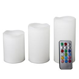 3 unid vela control remoto inalámbrico vela Velas operado Led velas sin llama Bougie luz conjunto remoto Party Club regalo de Navidad desde fabricantes