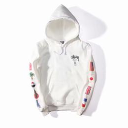 Lange fahnen online-Designer Hoodie Flaggen Printed World Tour Hoodies für Herren Herbst Stickerei Designer Pullover Sweatshirts Langarm Kapuzen Tops Kleidung