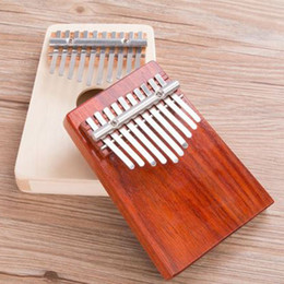Instrumentos de dedo online-Pulgar piano instrumento principiante portátil Pulgar piano 10 tono kalimba 10 dedos dedo piano resistente al desgaste