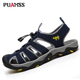 Wholesale Elastic Strap Gladiator - Men's Sandals Summer High Quality Brand Shoes Beach Men Sandals Men Causal Shoes Super Fiber Fashion Outdoor Waterproof