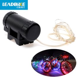 Wholesale Led Lights For Bike Spokes - Leadbike Bicycle Wheel Light Waterproof Bike Light Length 2m 20 Led Colorful Safety Lamp For Night Cycling Spoke Accessories