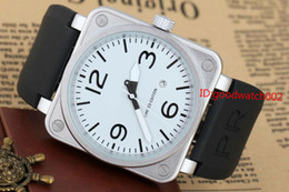 Estuches para pin online-2017 New Style Hombre Mecánico Mecánico Edición Limitada Reloj Bell Aviation Men Sport Dive Watches Black Case Br01-92 Reloj de goma negra