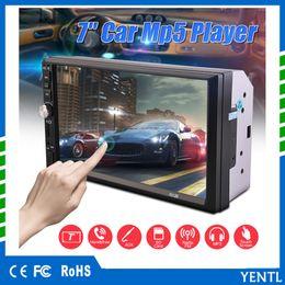 Branded dvd online-Yentl marke Bluetooth 7 zoll universal Radio Doppel 2 din Auto DVD Player dash Auto PC 7 zoll touchscreen Video Mutimedia Unterhaltung