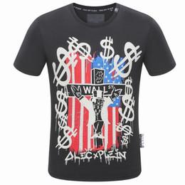 Wholesale Mens Design Shirts - New Arrival 2018 brand design magic hot drilling Hip Hop Clothing Mens Tee Shirt Homme Camisetas t-shirt PP385