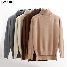 High Quality Turtleneck Sweater Women Winter thick Pullover Solid Knitted  Sweater Tops for Women Autumn Female oversized Sweater Y18101602 e6e14c106