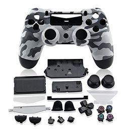 Wholesale NUEVO Camuflaje Gamepad Controller Carcasa Shell W Buttons Kit para PS4 Funda de la tapa de la manija blanca púrpura Venta caliente