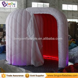 Wholesale Photo Booth Tent - Wholesale-led Dome Inflatable Photo Booth with red color cloth inside BG-A0714-4 toy tent