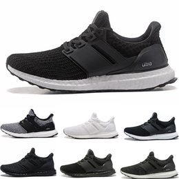 Wholesale quality black shoes - Best Quality Ultra Boost 4.0 Core Primeknit Runner Fashion Ultraboost Running Sneaker Sports Shoes For Men Women Eur36-45