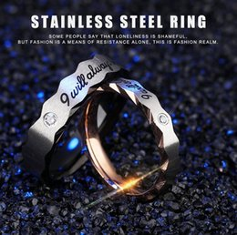 Wholesale Cheap Titanium Wedding Bands - Hot Sale Trend Fashion Love Heart Couples Rings Titanium Stainless Steel  Alloy Plated Valentine's Ring High Quality Mix Cheap Jewelry D0161