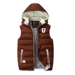 Wholesale Men Vest Jacket Hood - New Casual Detachable Cap Vest Jacket Short Slim Fit Men Winter Vest With Hood Thick High Quality Chalecos Hombre Sin Mangas