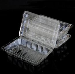 2019 embalagens de plástico descartáveis 19 * 12 * 4.5 cm Descartável De Plástico Transparente Caixa de Sushi Bolo De Fruta Salada De Alimentos Caixa De Embalagem De Alimentos Retirar O Recipiente