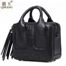 Wholesale Nice Ladies Purses - Qiwang Nice Box Bags Luxury Fashion Women Lay Bag 2017 Italian Crocodile Handbags Purse Leather Lady Hand Collection Bag