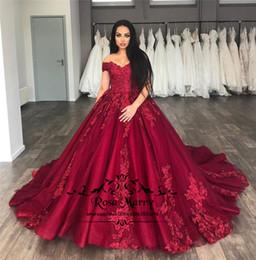 Principessa Red Sweet 16 Abiti Quinceanera 2019 Ball Gown Appliques in pizzo Plus Size abiti Arabi economici 15 Anos Pageant Prom Gowns da
