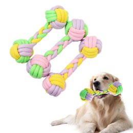 Wholesale plastic dog bone toy - toys Toys for dog funny Chew Knot Cotton Bone Rope Puppy toy Pets dogs pet supplies for