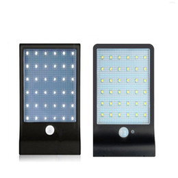 Wholesale Garden Wall Sconces - 36 LED Solar Gutter Lights Wall Sconces with Mounting Pole Outdoor Solar Motion Sensor Detector Light Security Lighting LED Wall Lamps