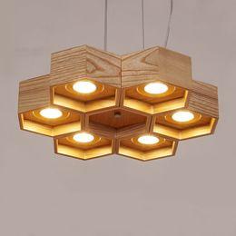 handgefertigte holzlampen Rabatt Holz vintage pendelleuchte lampe 6 arten Moderne einfache LED handgefertigte holz Hängelampe für wohnzimmer cafe bar deco