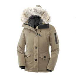 Wholesale women s goose down coats - Women's 90% White GOOSE Down Warm Outdoor Sports Down Jacket Woman's High Quality Winter Cold Outdoor Ski Park Coat