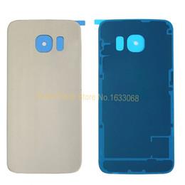 casos sumsung s6 Desconto Para Sumsung Galaxy S6 Edge G925 Habitação Real Vidro Bateria Back Door Case Capa