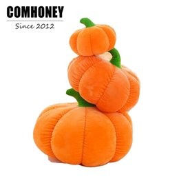Wholesale Column Decor - Baby Pillow Newborn Baby Room Decor Pumpkin Shape Kids Plush Toys for Party Gifts Bebe Halloween Decoration Children Bedding