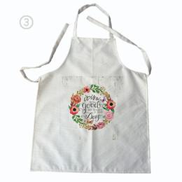 Schürzenmuster online-Reinigung Blumenmuster Männer Frauen Leinen Baumwolle Küche Kochschürze für Paare Reinigung Schürzen ärmellose Schürze