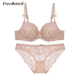 Wholesale Dropped Sexy Underwear - Free Ostrich 2018 Women Sexy Lace Underwear Lingerie Women Push Up Bra Set A B C D Cup Plus Size Drop Shipping F35