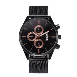 мужская стальная лента Скидка Fashion Casual Men's Watch Stainless Steel Mesh Belt Watch Relogio Masculino mens watches top  2018 Male clock