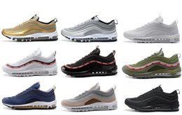 Wholesale Drop Shipping Bullet - Drop Shipping 97 OG Bullet Running Shoes 2018 For Men Casual Sneakers Women Cushion Sports Shoes Undefeated Athletic Sneakers 36-46