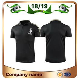 jerseys polo Rebajas 2019 Juventus negro POLO de fútbol 18/19 Juventus RONALDO DYBALA Club de fútbol de manga corta Uniformes de fútbol Camiseta deportiva Oferta