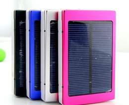 Wholesale Batteries For Solar Energy - High quality 18650 Solar Battery Charger 30000mAh solar charger Portable Double USB Solar Energy Panel Power Bank For Mobile Phone PAD Table