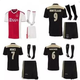 82cc620f3d678 haute qualité Nouveau 2018 2019 Ajax kit Soccer Jersey 2018 2019 Ajax loin  Personnalisé # 10 KLAASSEN # 34 NOURIB livraison gratuite uniforme de  football ...