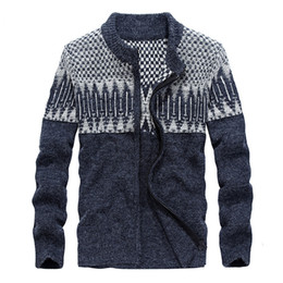 Wholesale Thick Cardigan Sweaters For Men - YIRUISEN Brand Mens Sweaters for 2017 Wool With Zipper Cardigan For Men Warm Winter Clothing M-3XL