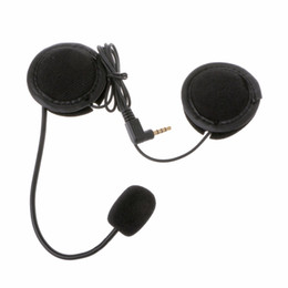 Wholesale work bluetooth headset - New Microphone Speaker Soft Cable Headset Accessory for Motorcycle Helmet Bluetooth Interphone Intercom Work with 3.5mm-plug C45