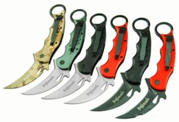 fox knives Promo Codes - 16 models best karambit FOX claw knife folding training hunting knife outdoor survival knife xmas gift for man 1pcs