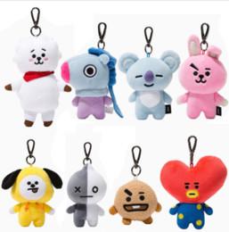 Großhandelsart- und weiseansammlung Kpop BTS BT21 Plüsch Keychain Puppe Schlüsselring CHIMMY KOKOSES MANG KOYA Material-weiches Spielzeug von Fabrikanten