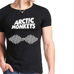 0c39bcc79c 2019 vestidos de rock roll Arctic Monkeys Sound Wave Camiseta para hombre  Camiseta Camiseta Top Indie