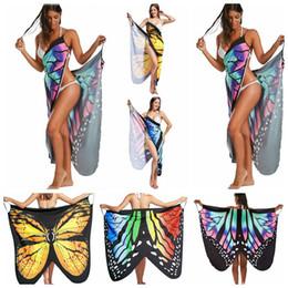 Wholesale butterflies print - Irregular Butterfly Print Dress Women Backless Beach Party Dresses Boho Chic Bodycon Dress Beach Wear Beach Cover Up 5pcs OOA4712
